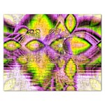 Golden Violet Crystal Heart Of Fire, Abstract Jigsaw Puzzle (Rectangle)