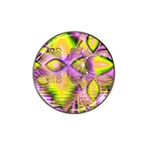 Golden Violet Crystal Heart Of Fire, Abstract Golf Ball Marker (for Hat Clip)