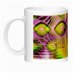 Golden Violet Crystal Heart Of Fire, Abstract Glow in the Dark Mug