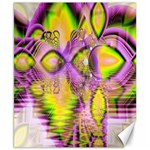 Golden Violet Crystal Heart Of Fire, Abstract Canvas 8  x 10  (Unframed)