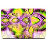 Golden Violet Crystal Heart Of Fire, Abstract Large Door Mat