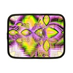 Golden Violet Crystal Heart Of Fire, Abstract Netbook Sleeve (Small)