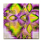 Golden Violet Crystal Heart Of Fire, Abstract Face Towel