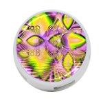 Golden Violet Crystal Heart Of Fire, Abstract 4-Port USB Hub (Two Sides)
