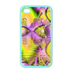 Golden Violet Crystal Heart Of Fire, Abstract Apple iPhone 4 Case (Color)