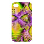 Golden Violet Crystal Heart Of Fire, Abstract Apple iPhone 4/4S Hardshell Case