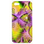 Golden Violet Crystal Heart Of Fire, Abstract Apple iPhone 5 Hardshell Case