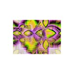 Golden Violet Crystal Heart Of Fire, Abstract 5  x 7  Desktop Photo Plaque