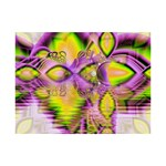 Golden Violet Crystal Heart Of Fire, Abstract 6  x 8  Desktop Photo Plaque