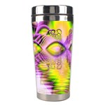 Golden Violet Crystal Heart Of Fire, Abstract Stainless Steel Travel Tumbler