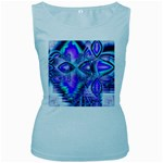 Peacock Crystal Palace Of Dreams, Abstract Women s Tank Top (Baby Blue)
