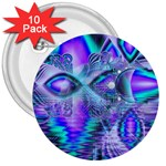 Peacock Crystal Palace Of Dreams, Abstract 3  Button (10 pack)