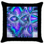 Peacock Crystal Palace Of Dreams, Abstract Black Throw Pillow Case