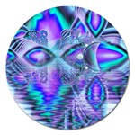 Peacock Crystal Palace Of Dreams, Abstract Magnet 5  (Round)