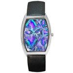 Peacock Crystal Palace Of Dreams, Abstract Tonneau Leather Watch