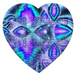 Peacock Crystal Palace Of Dreams, Abstract Jigsaw Puzzle (Heart)