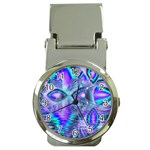 Peacock Crystal Palace Of Dreams, Abstract Money Clip with Watch