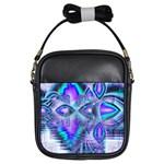 Peacock Crystal Palace Of Dreams, Abstract Girl s Sling Bag
