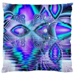 Peacock Crystal Palace Of Dreams, Abstract Large Cushion Case (Two Sided)
