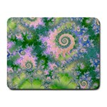 Rose Apple Green Dreams, Abstract Water Garden Small Mouse Pad (Rectangle)