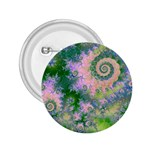 Rose Apple Green Dreams, Abstract Water Garden 2.25  Button