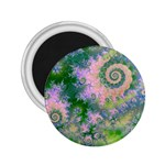 Rose Apple Green Dreams, Abstract Water Garden 2.25  Button Magnet