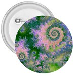Rose Apple Green Dreams, Abstract Water Garden 3  Button