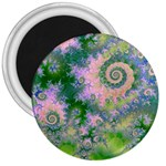 Rose Apple Green Dreams, Abstract Water Garden 3  Button Magnet