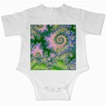 Rose Apple Green Dreams, Abstract Water Garden Infant Bodysuit