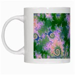 Rose Apple Green Dreams, Abstract Water Garden White Coffee Mug