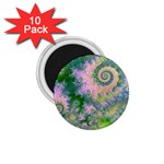 Rose Apple Green Dreams, Abstract Water Garden 1.75  Button Magnet (10 pack)
