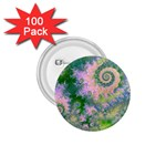 Rose Apple Green Dreams, Abstract Water Garden 1.75  Button (100 pack)