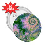 Rose Apple Green Dreams, Abstract Water Garden 2.25  Button (10 pack)