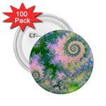 Rose Apple Green Dreams, Abstract Water Garden 2.25  Button (100 pack)