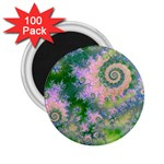 Rose Apple Green Dreams, Abstract Water Garden 2.25  Button Magnet (100 pack)