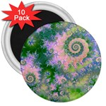 Rose Apple Green Dreams, Abstract Water Garden 3  Button Magnet (10 pack)