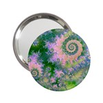 Rose Apple Green Dreams, Abstract Water Garden Handbag Mirror (2.25 )