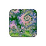 Rose Apple Green Dreams, Abstract Water Garden Drink Coaster (Square)