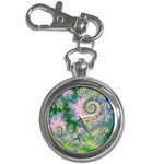 Rose Apple Green Dreams, Abstract Water Garden Key Chain Watch