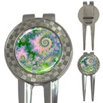 Rose Apple Green Dreams, Abstract Water Garden Golf Pitchfork & Ball Marker