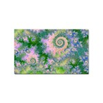 Rose Apple Green Dreams, Abstract Water Garden Sticker (Rectangle)