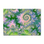 Rose Apple Green Dreams, Abstract Water Garden A4 Sticker