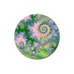Rose Apple Green Dreams, Abstract Water Garden Magnet 3  (Round)