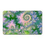 Rose Apple Green Dreams, Abstract Water Garden Magnet (Rectangular)
