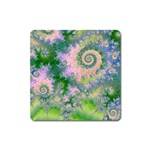 Rose Apple Green Dreams, Abstract Water Garden Magnet (Square)