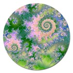 Rose Apple Green Dreams, Abstract Water Garden Magnet 5  (Round)
