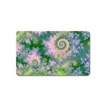 Rose Apple Green Dreams, Abstract Water Garden Magnet (Name Card)