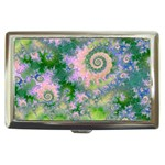 Rose Apple Green Dreams, Abstract Water Garden Cigarette Money Case