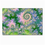 Rose Apple Green Dreams, Abstract Water Garden Postcard 5  x 7