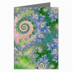 Rose Apple Green Dreams, Abstract Water Garden Greeting Card (8 Pack)